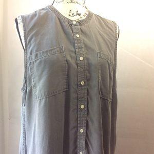Merona Olive Grey Tunic Mini Sleeveless Dress XXL